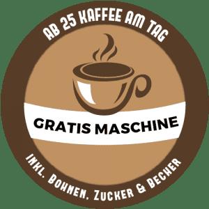 Gratis Kaffeemaschine am 25 Kaffee am Tag