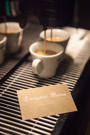 Gastro Kaffeemaschine im Landgasthof Wartegg - Brugger Kaffeeservice